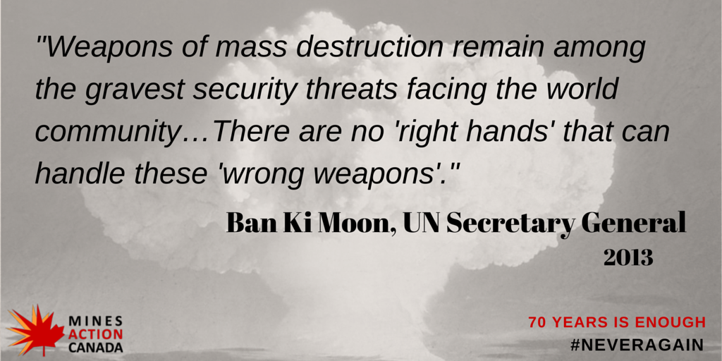 64 days until 70th anniversary of #Hiroshima & #Nagasaki. It's time to take the wrong weapons out of everyone's hands http://t.co/dyA0F3nOa4