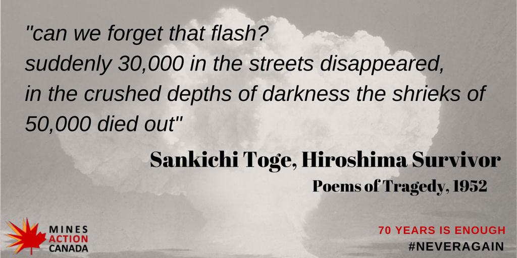 63 days until #Hiroshima70 and #Nagasaki70. It is time to fill the gap and say #goodbyenukes. http://t.co/4eCB28hajz