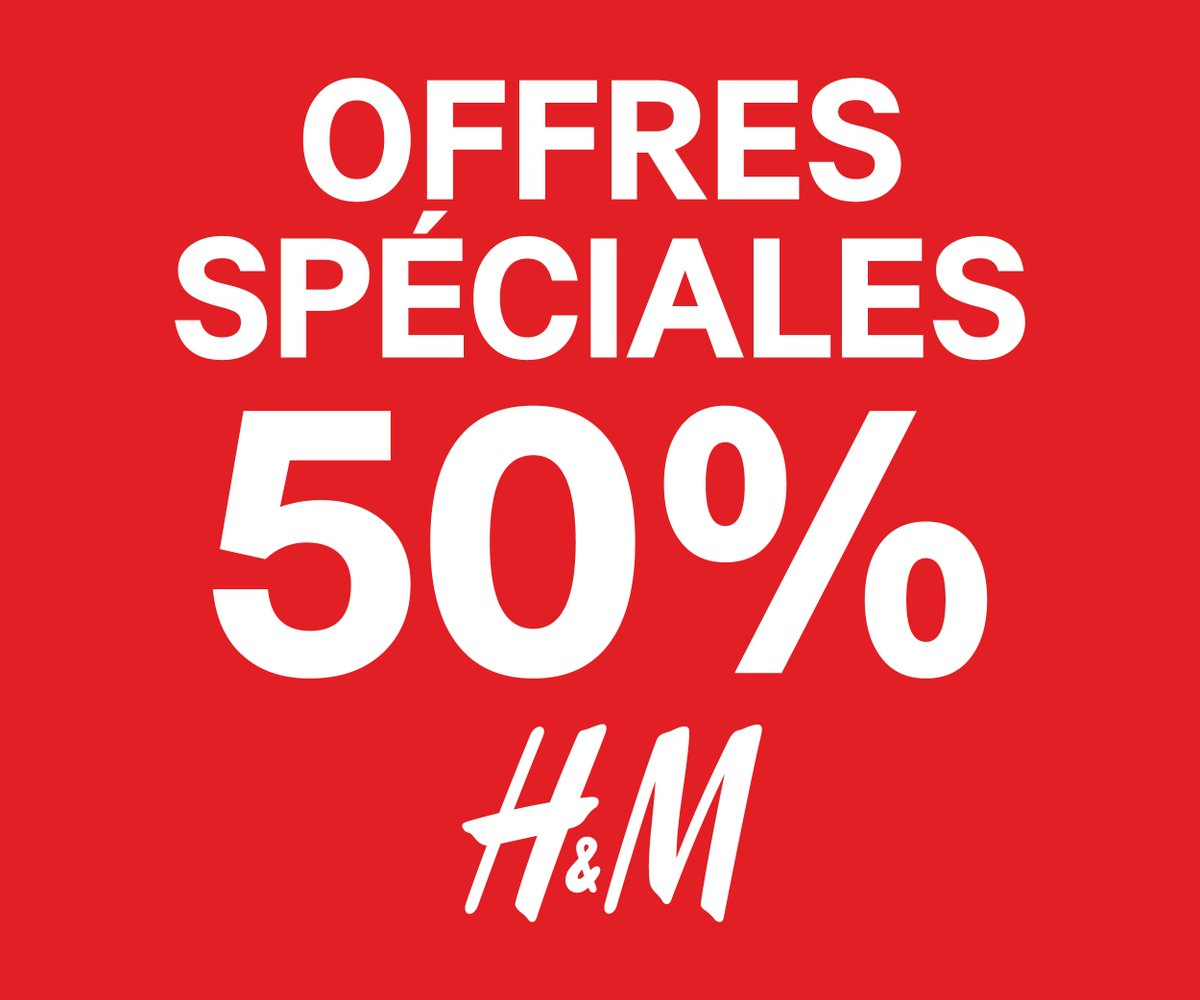 Shopping lovers, HM affiche -50% au Morocco Mall. Ne ratez pas cette promo !! http://t.co/CdhyaO8AxW