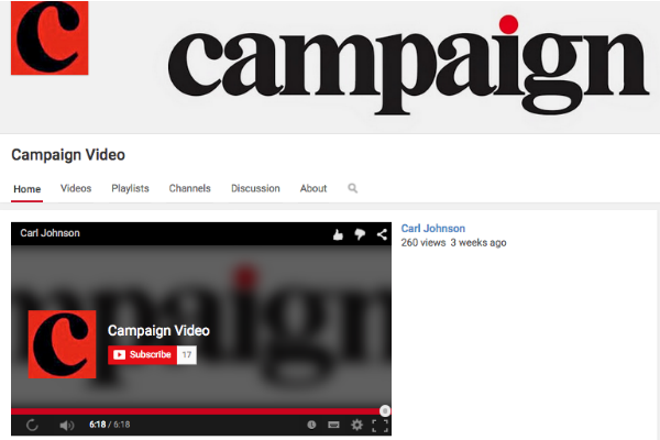 Take a look at @Campaignmag's YouTube channel, which will be our video hub during #CannesLions http://t.co/4IoaVM2WYk http://t.co/jjibXa6Ykk