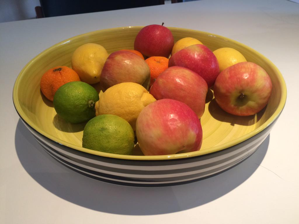 this is my first proper fruit bowl, courtesy of @habitatuk. I feel like a grown-up. Might even eat some of the fruit. http://t.co/xctg6Qgm7k