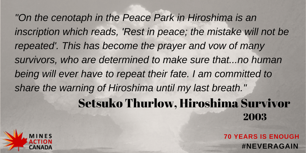 55 days until #Hiroshima70. We need to ban nuclear weapons in her lifetime. 70 years is too long. #neveragain http://t.co/rh3hJwfnhu