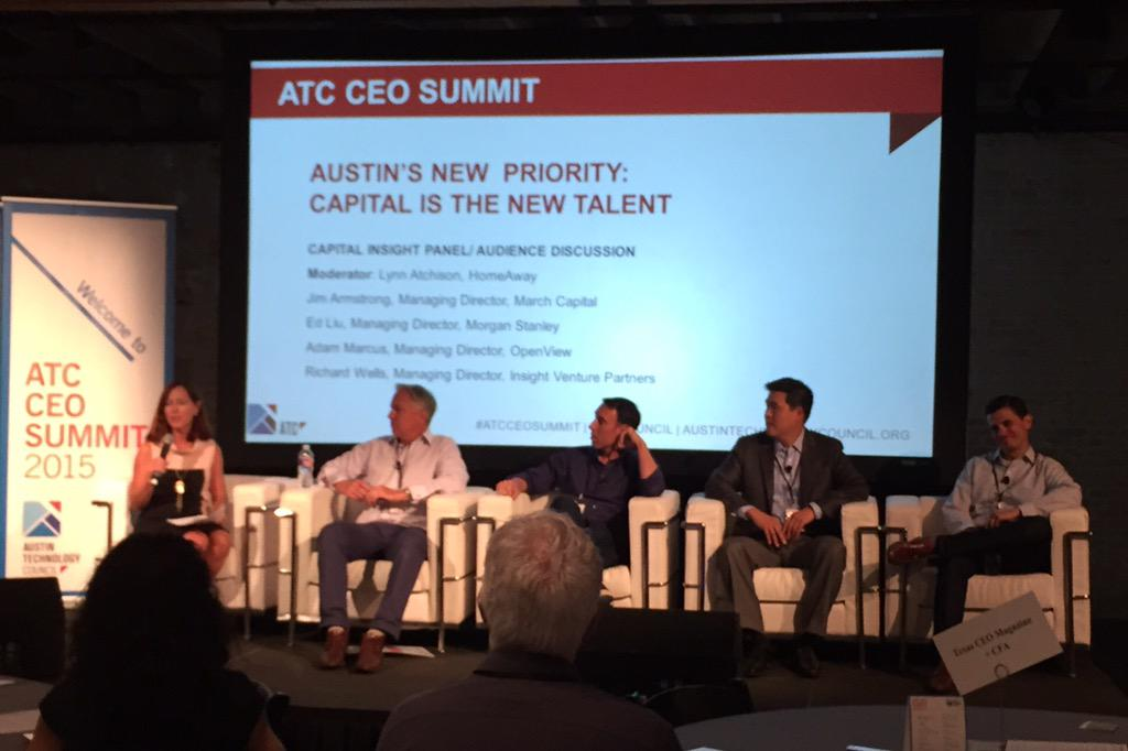 Here's a group of big funds ready to invest in Austin, filling the Austin Ventures gap. #ATCCEOSummit http://t.co/Fh59xfqpSI
