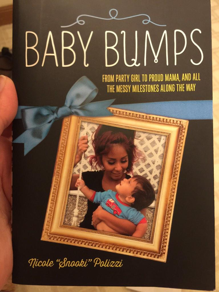 RT @angelswtp6: @snooki 9weeks along! So excited, but so uncomfortable! Thought I'd treat myself! can't wait to start reading it! :) http:/…