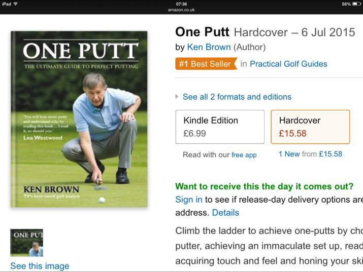 Ken Brown On Twitter One Putt Best Selling Golf