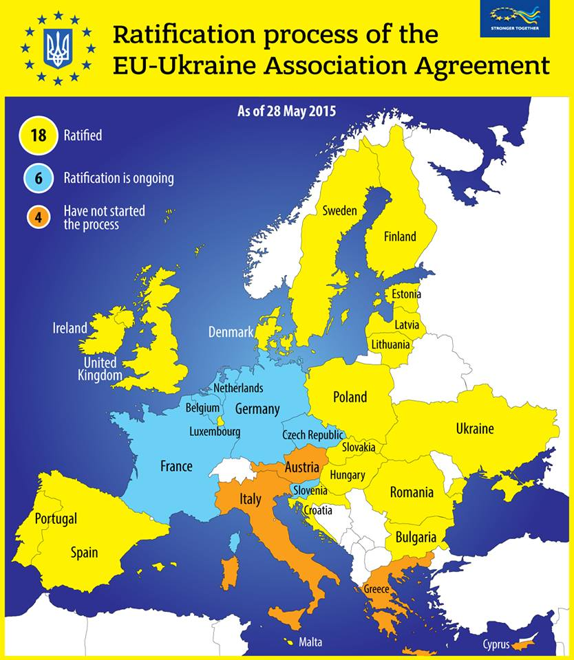 Ukraine Eu Office On Twitter Map Of The Ratification Process Of