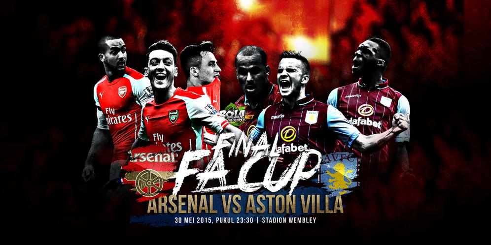 Arsenal-Aston Villa info streaming Rojadirecta Finale FA Cup 2015