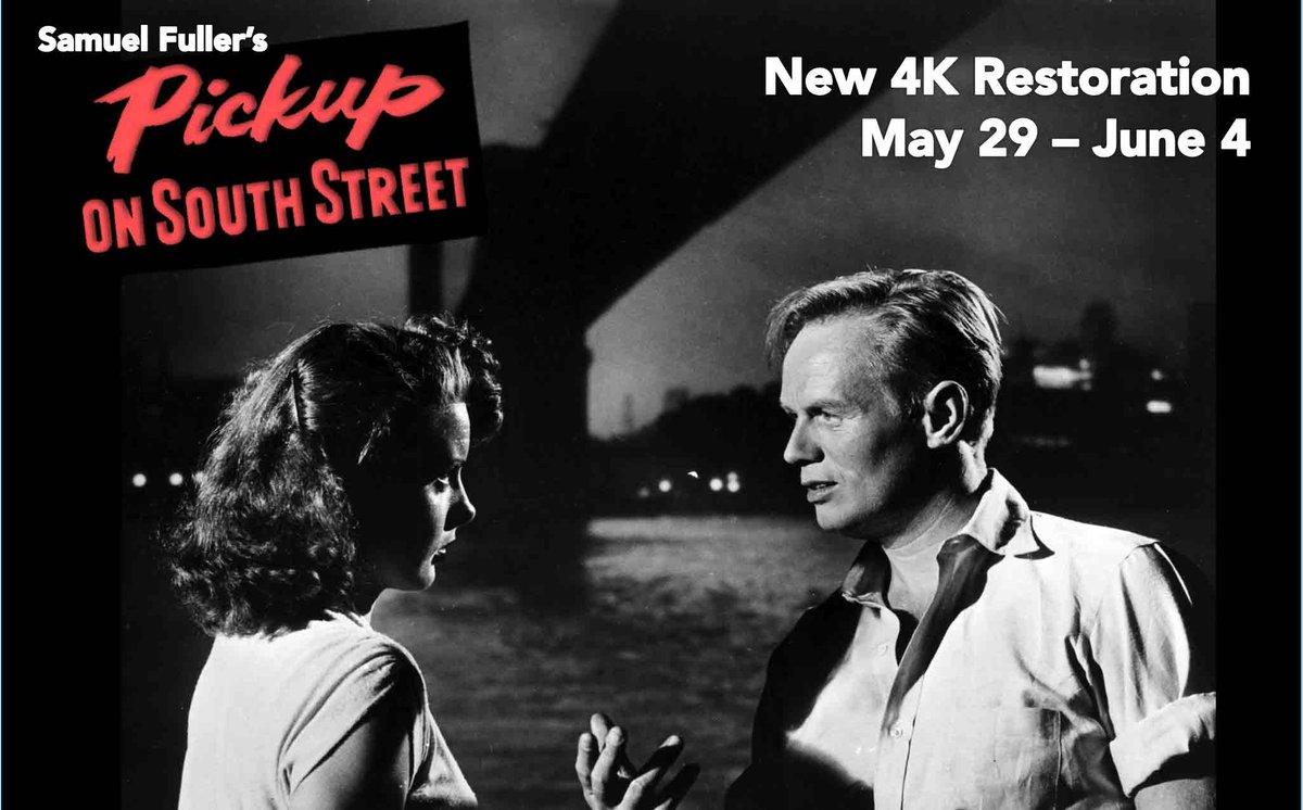 New 4K restoration of Samuel Fuller's Noir masterwork PICKUP ON SOUTH STREET opens today! Tix: http://t.co/nu7X1vPxx8 http://t.co/k7EsjEUpor