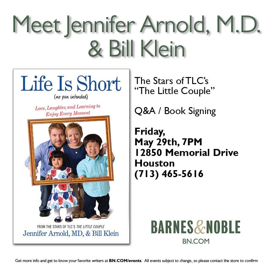Tonight!!!!!! With @JenArnoldMD at @BNBuzz Town & Country. We look forward to seeing you there! @simonschuster @TLC http://t.co/Tu0rfnkFNP