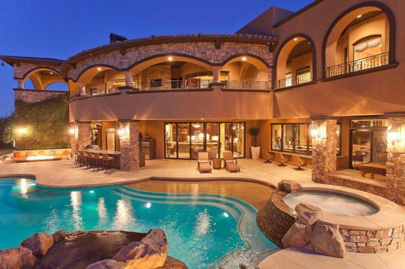 Billionaires On Twitter Vegas Mansion With A Dope Patio