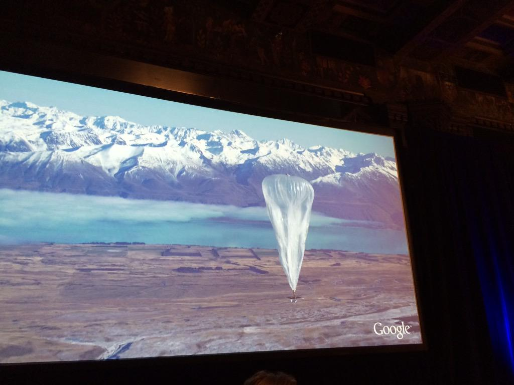 . @google using balloons to get internet connectivity in remote places #patientspartners http://t.co/C2XRlqZXIC