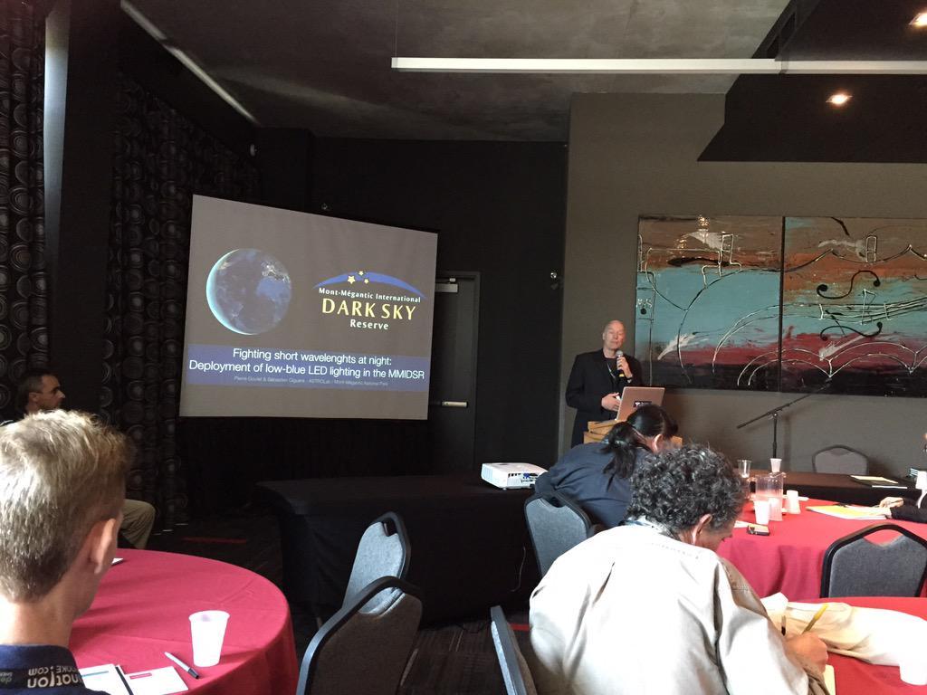 2nd talk - our 1st Dark Sky Reserve @OMM_Officiel & short wavelength lighting. #ALAN2015 http://t.co/Yjdf0W721n