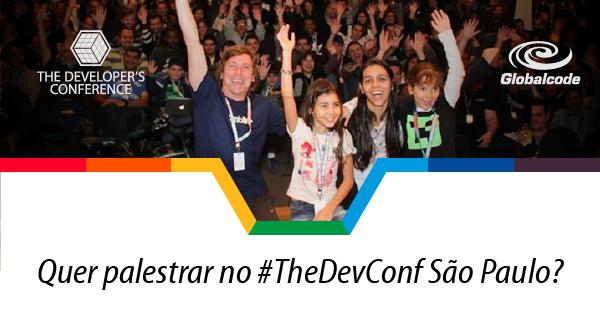 Atenção amigos e amigas  #Call4Papers #TheDevConf está aberto! Submeta sua palestra até 15/6:  http://t.co/TdtqFfbCm7 http://t.co/el4ohOwDft