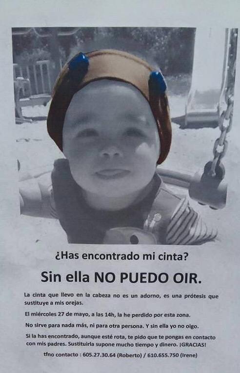 AYUDA: ¿Has encontrado mi cinta? Sin ella no puedo oír. La he perdido en Leganés. Por favor, RT! http://t.co/9emVVH74S2