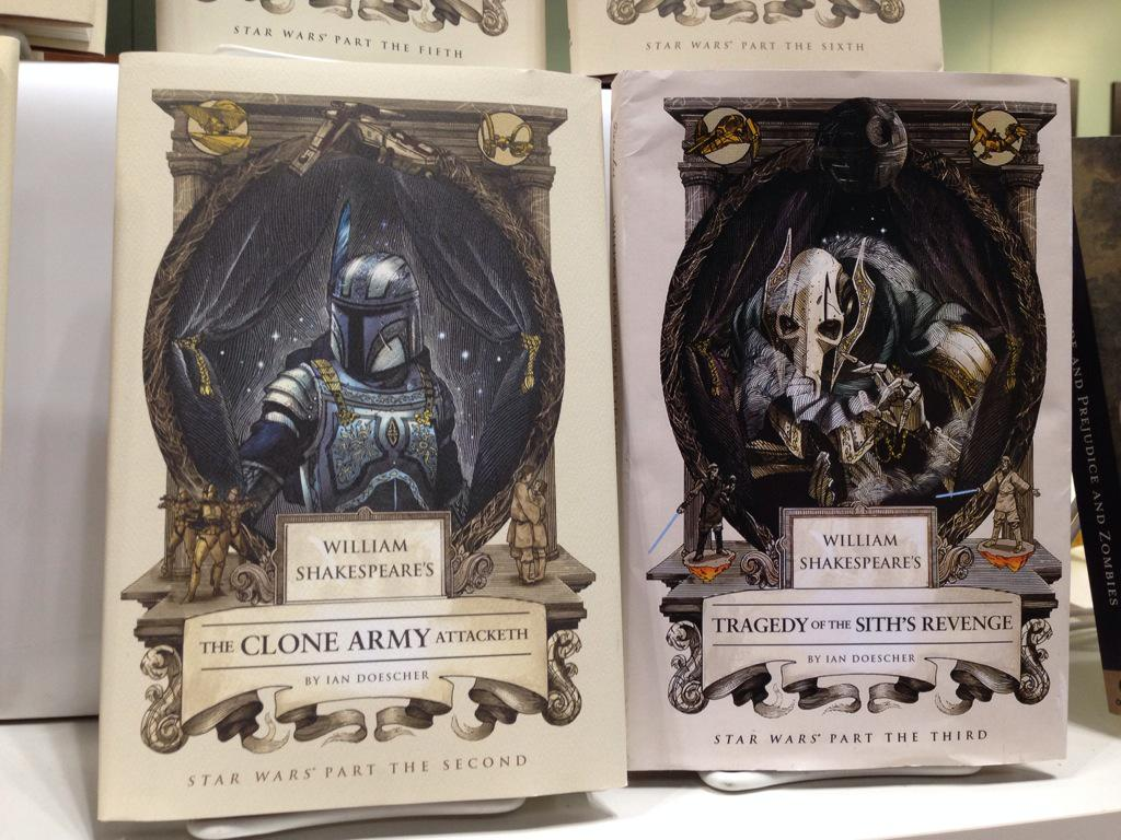 Jamie Greene On Twitter The Complete Shakespeare Star Wars Saga From Quirkbooks Including The Last Two Unreleased Ones Bea15 Http T Co Lpwat6drxt