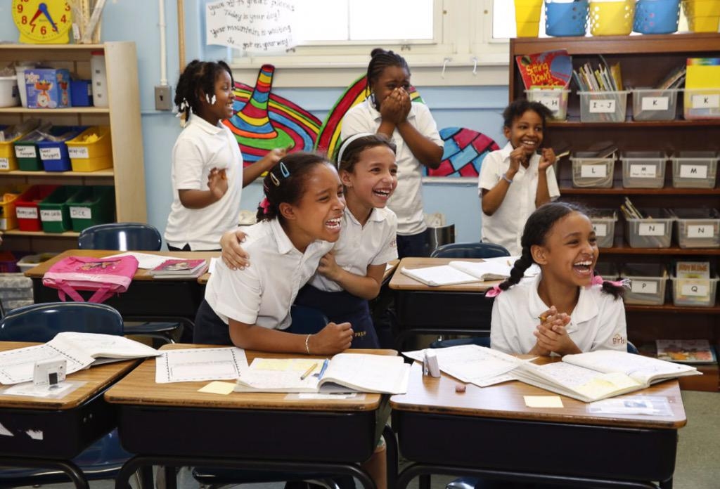 Happy Faces! Thank you lovely 3rd graders at #GirlsPrep http://t.co/8WA6fOgrhY