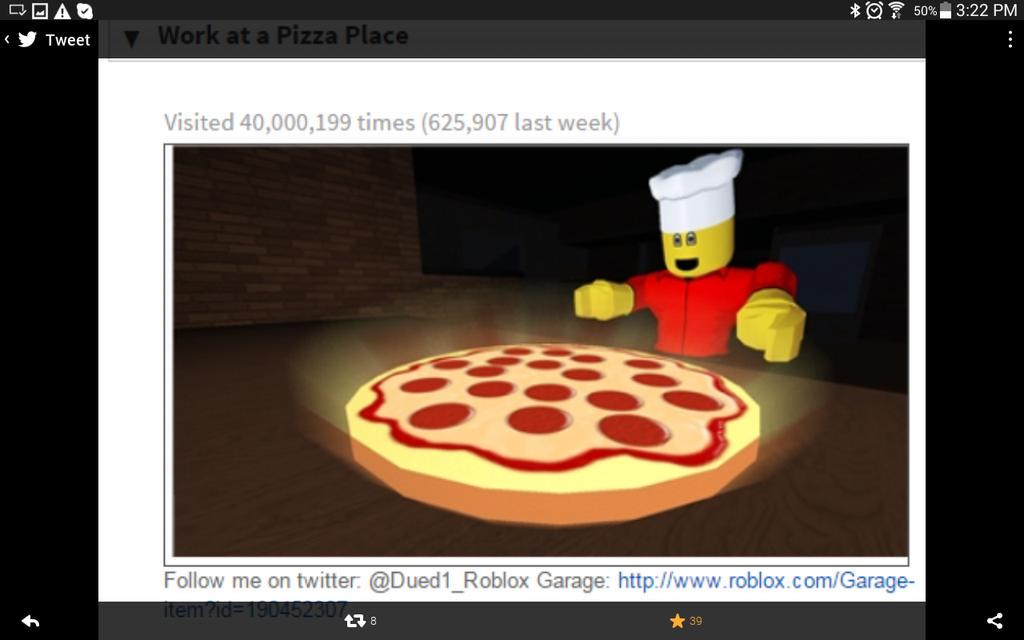 Roblox Work At Pizza Place Garage