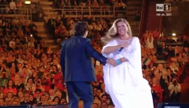 Al Bano e Romina Power a Verona: Il Ballo del Qua Qua con Kabir Bedi