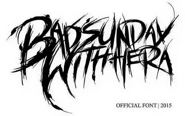 Deathcore Font INDONESIAN DEAT...