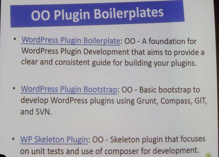 Plugin Boilerplates @LimeCanvasWil #wcbne http://t.co/WDQgPB0ySY