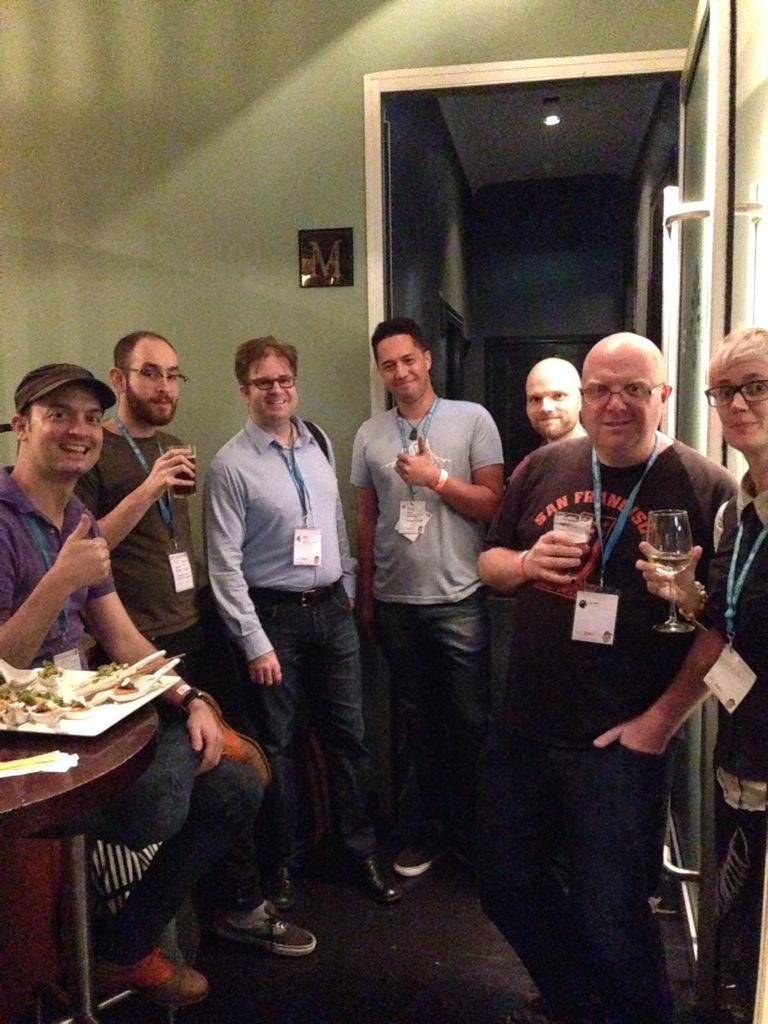 Door staff ready for the onslaught at the #WCBNE after party, Shout out to @WooThemes for sponsoring! http://t.co/5wR8YWZux8