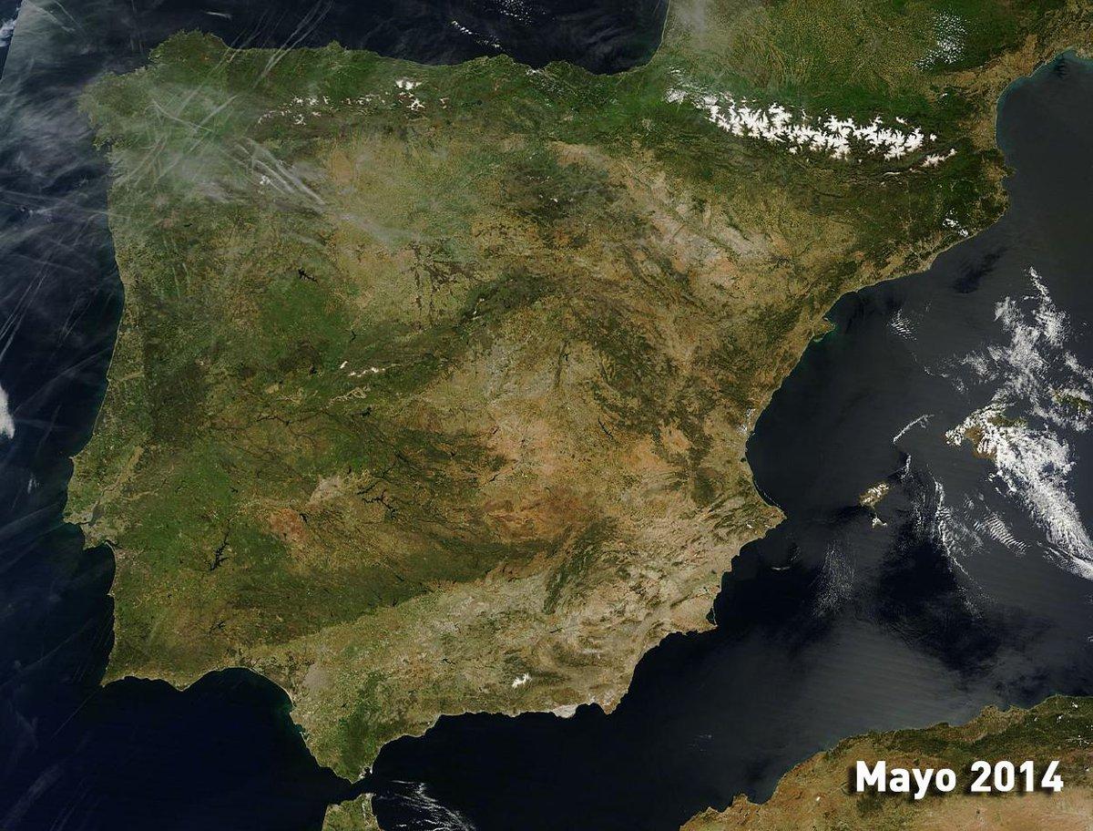 A puntito de terminar mayo y de una forma muy distinta a la del año pasado. Qué verde estaban muchas zonas en 2014. http://t.co/KiDSmQrCQn