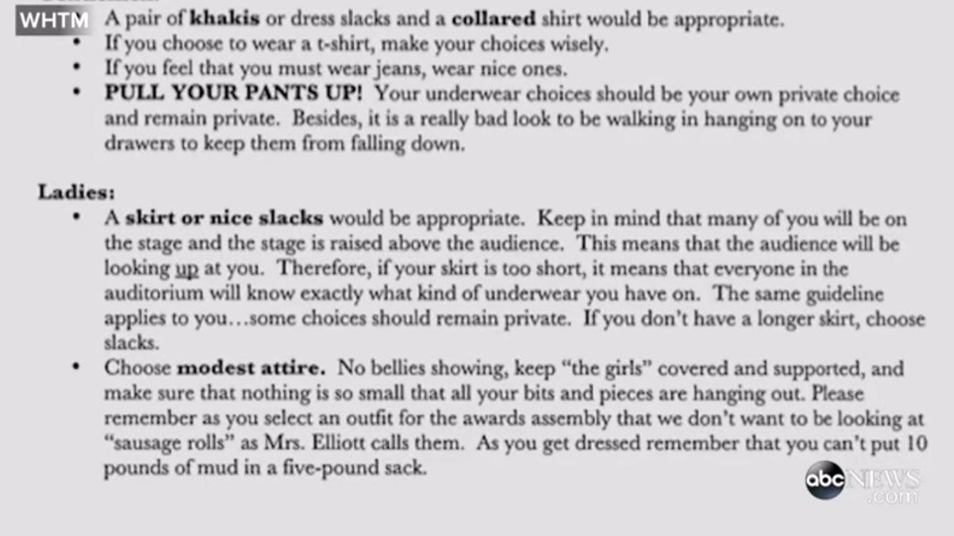 RT @mashable: High school student angered by sexist graduation dress code letter. http://t.co/LdWGak2koV http://t.co/Y0DuD29KOh
