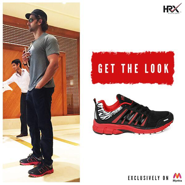 edgy look by pairing these HRX sneakers