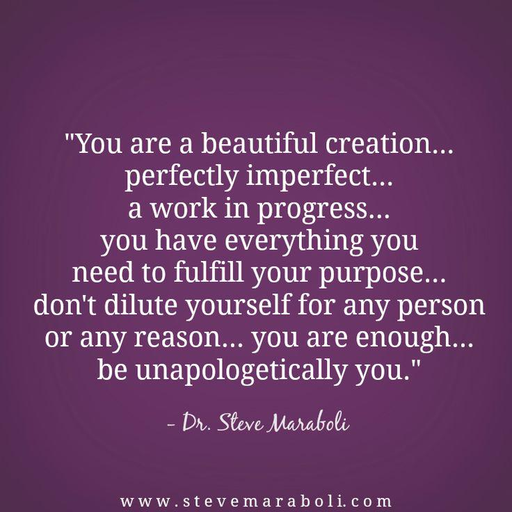 steve maraboli on perfectly imperfect quote