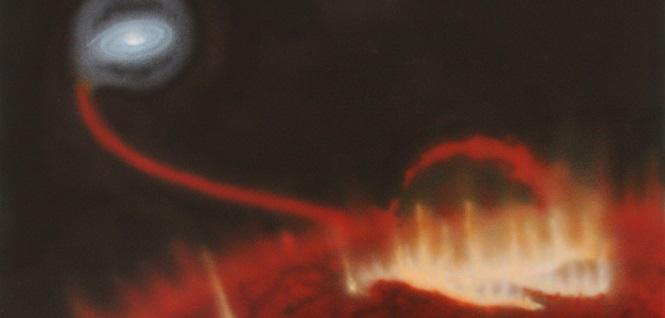 Astrônomos flagram pela 1ª vez erupção na estrela gigante vermelha Mira. http://t.co/3ArM1AUsOb