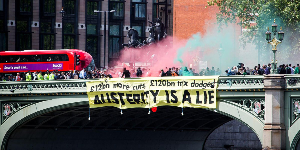 Sending a message to the new government. We don't believe your lies #austeritylie http://t.co/LBledMheSO