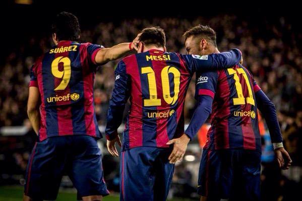 Messi, Neymar and Suarez - MSN - 120 Goals.