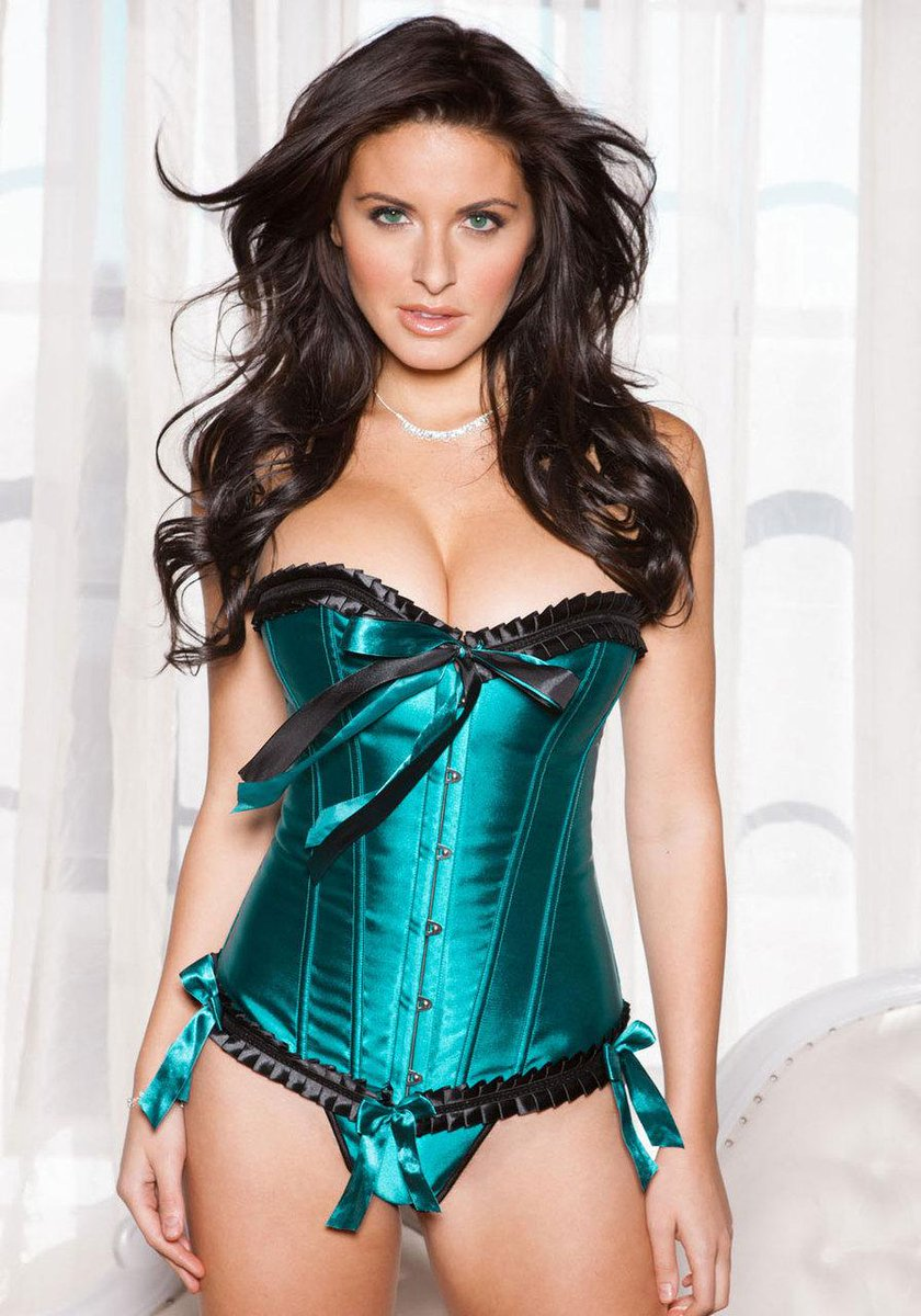 Women's electric blue corset