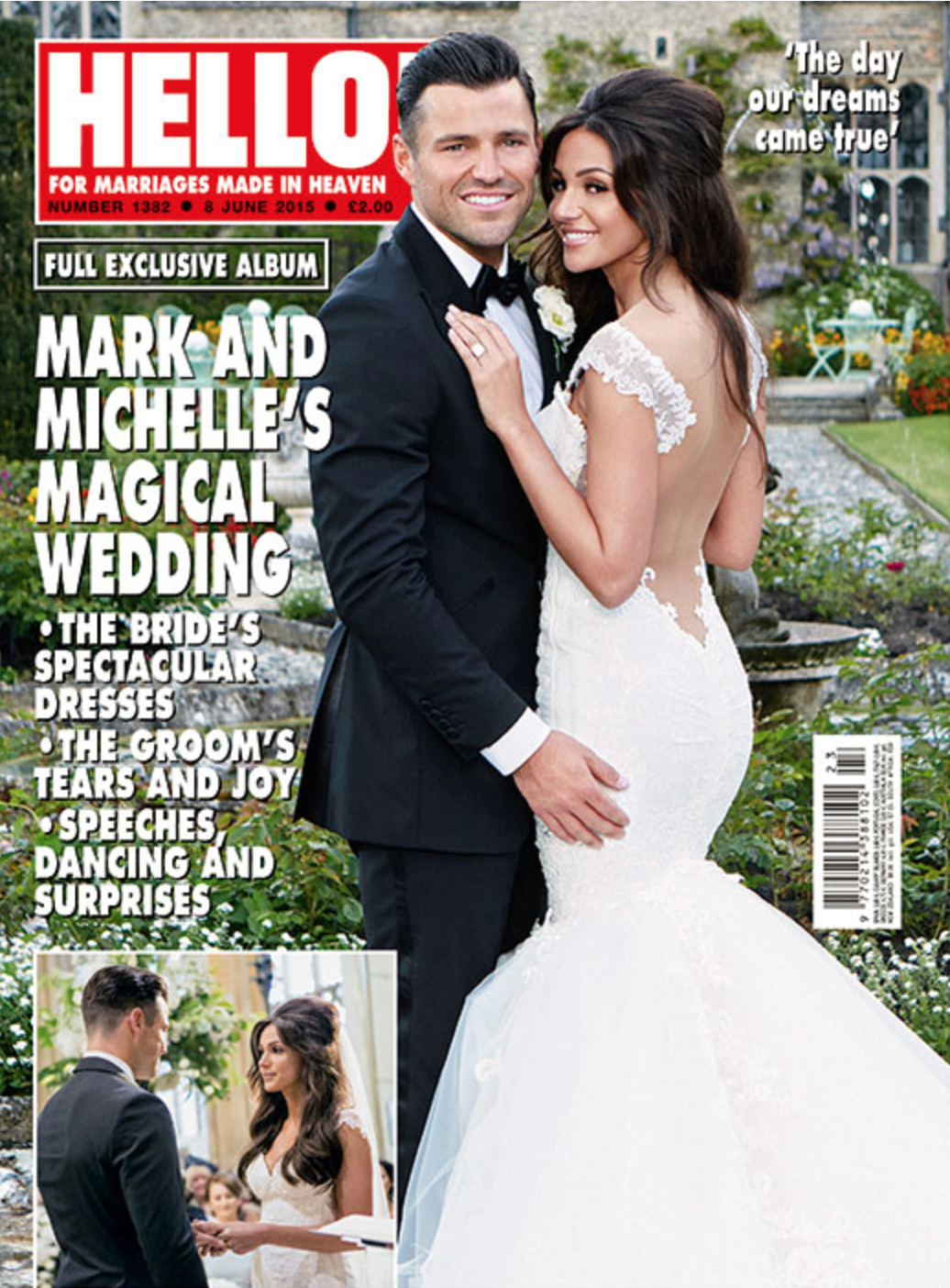 RT @alanstrutt: My cover of @hellomag of @michkeegan @MarkWright_  wedding out tomorrow http://t.co/9cpz8zonVP