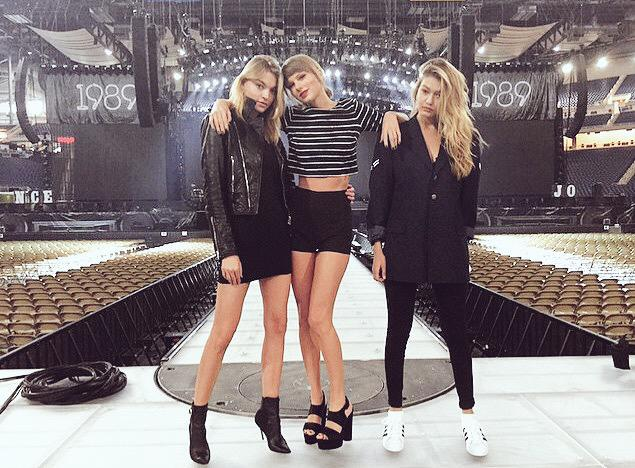 Detroit, look who tagged along! @GiGiHadid  @iammarthahunt  #1989TourDetroit http://t.co/zkNQ9rv8bs