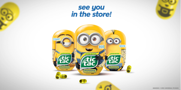 Tic Tac Minions - find out more: http://t.co/yCugyneDV0 http://t.co/245AZd5inR