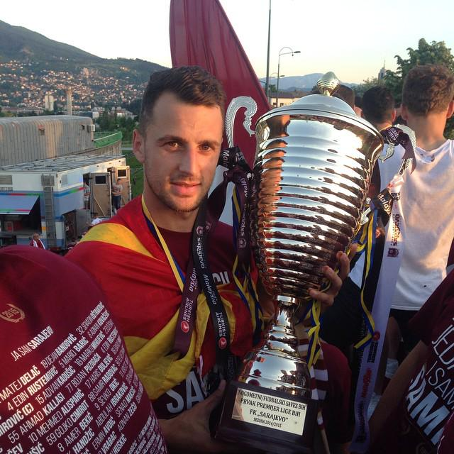 Velkoski with the trophy