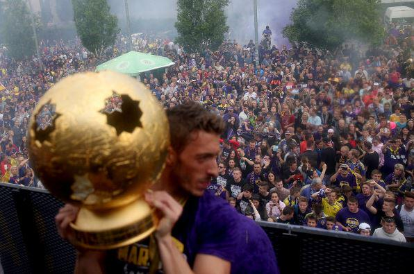 Ibraimi lifts the trophy