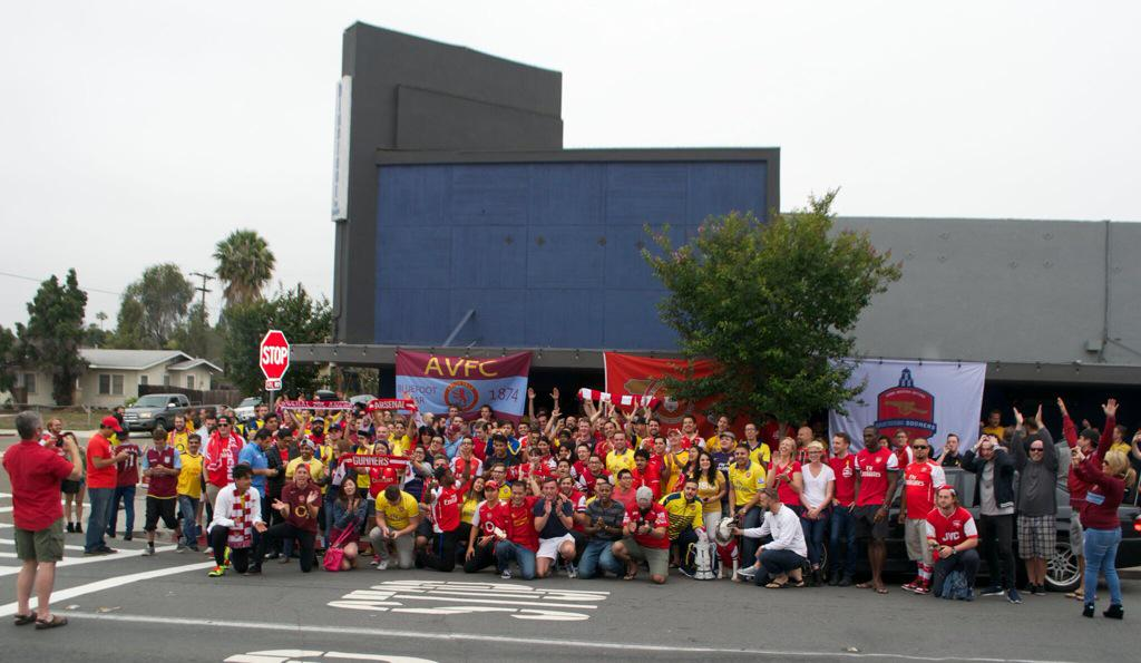 Decent showing...North Park doesnt know what hit it! #FACupFinal #BluefootDerby @avfcsandiego @arsenalamerica http://t.co/SukFTxOkVQ