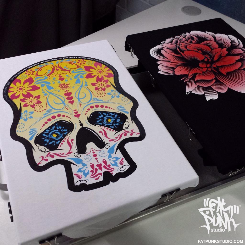Beautiful #SugarSkull & #Peony shirts. RT to go into the draw to win one