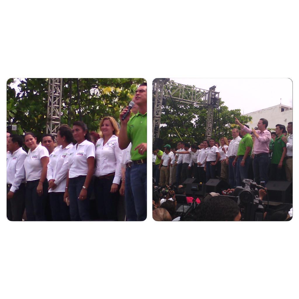 Acompañamos a nuestro próximo gobernador de Campeche @alitomorenoc a su cierre de campaña #ConTodoParaTodos @EnElD3 http://t.co/DmCuCBOblD