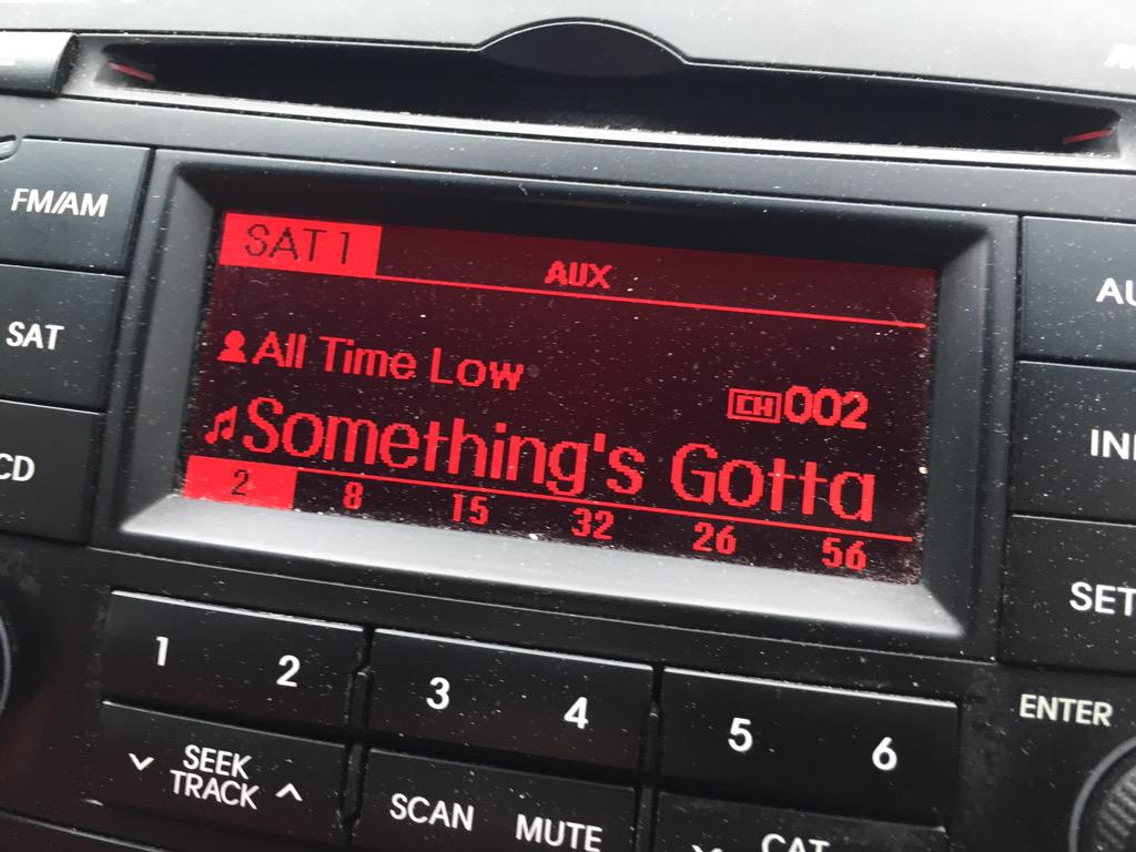 First time hearing @AllTimeLow on @SiriusXMHits1!
