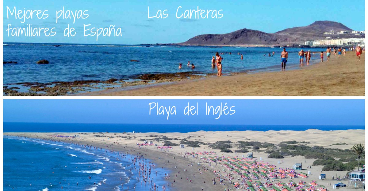Las Canteras mejor playa familiar de España y Playa del Inglés tercera #GranCanaria http://t.co/MjT2EctsKo http://t.co/x0QNpqjvsf
