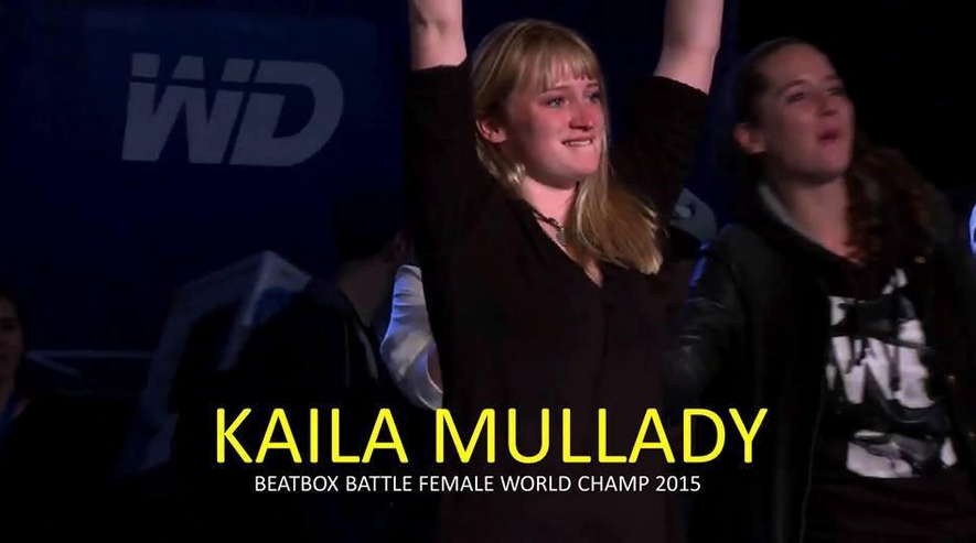 Congrats @kailamullady of @NorthCoastNYC for winning @beatboxbattle WORLD CHAMPIONSHIP. WORLD. Like, the whole EARTH. http://t.co/31fu0EEyei
