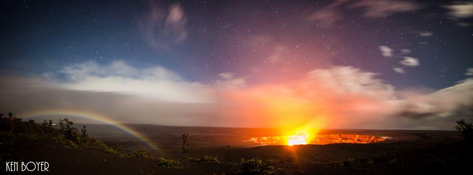 A Moon Bow mixed in with a Lava flow!  #LetHawaiiHappen photo by Ken Boyer. http://t.co/9Xw33Ma2pp