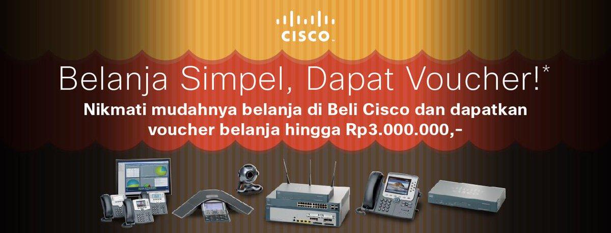Nikmati mudahnya belanja di Beli Cisco dan dapatkan voucher belanja hingga Rp 3.000.000,- http://t.co/D2tKKjMSR8