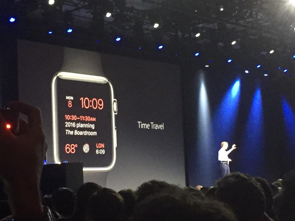 "New Apple Watch OS allows to look forward in time with ""Time Travel"" function (Source: Aaron Tilley)"