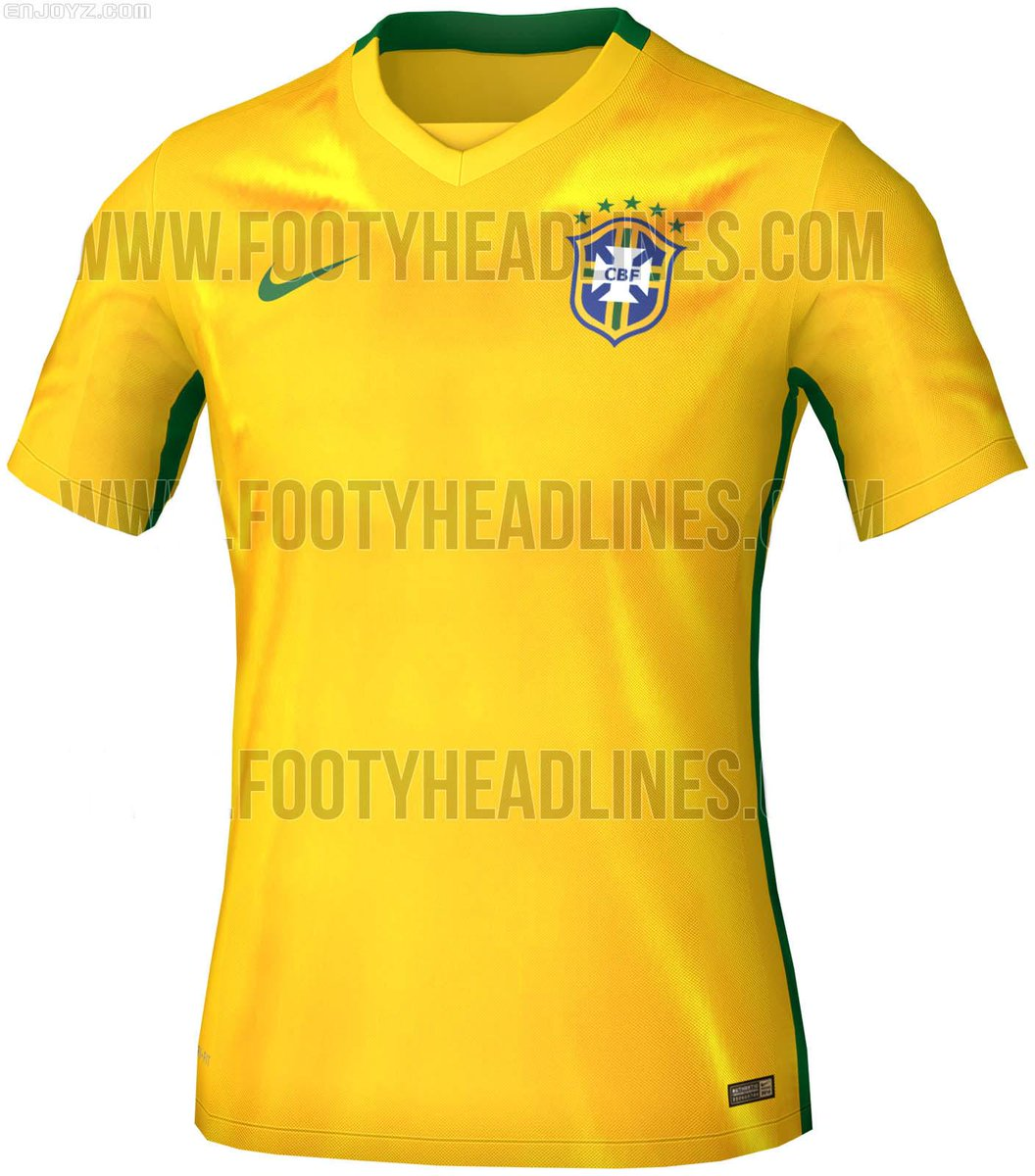 103f5fa635c Copa America 2015 Brazil national team home jersey recent exposure related  design. ...