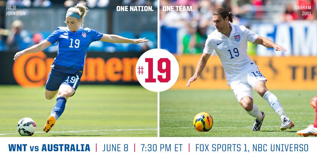 Help me wish @_JulieJohnston_ & team #USA good luck as they open their 2015 @FIFAWWC campaign tonight! #1N1T #19 http://t.co/DIc6meTGxf