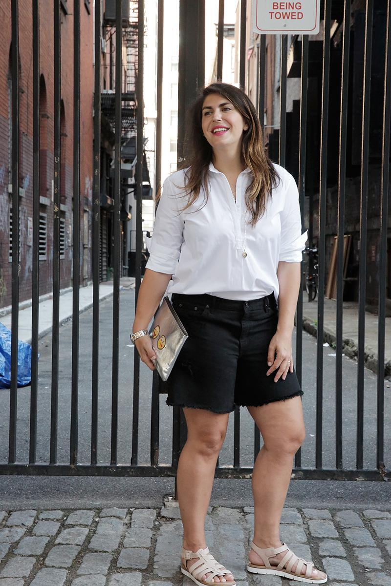76c13af1b8 katie sturino on high waisted shorts they re really flattering dont be  scared of them